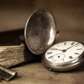 A antique time piece