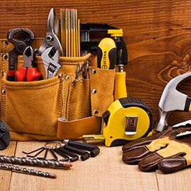 A tool belt full of tools