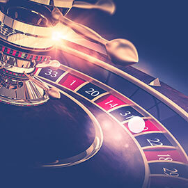 A roulette wheel