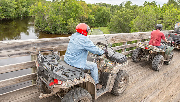 Traveling by ATV in Washburn County