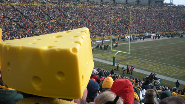 Cheesehead at Packer Game