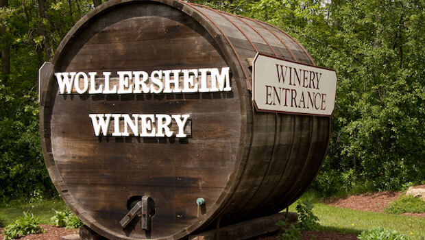 Big barrel at Wollersheim Winery