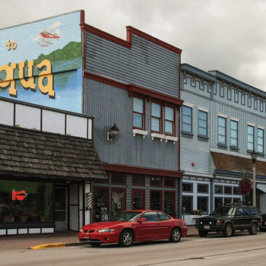 downtown minocqua wisconsin painted building